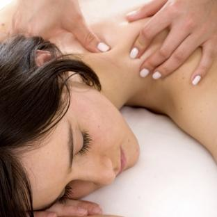 Beauty and Spa - Girl having a massage on her back
